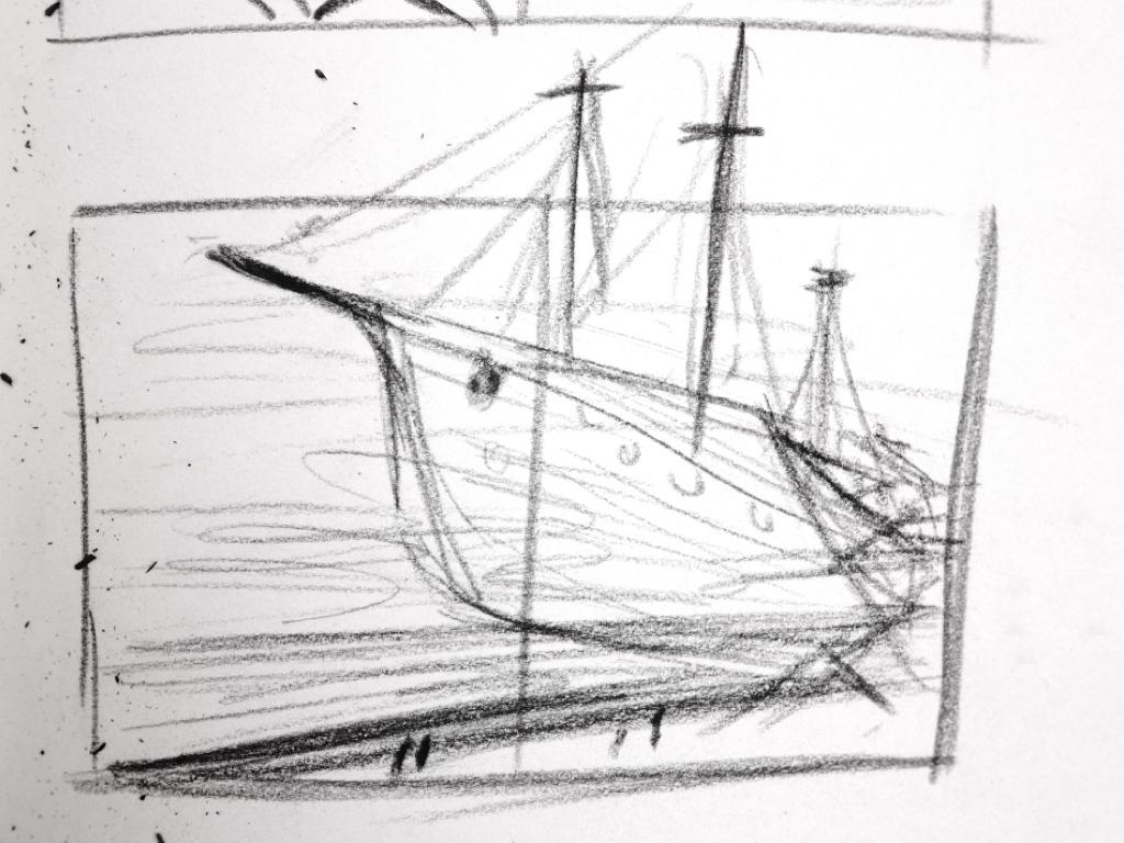 All Aboard (sketch) – Illustration by Pyhai